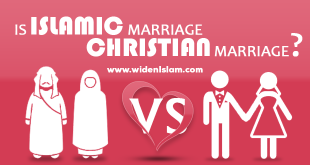 Is Islamic marriage like Christian marriage?